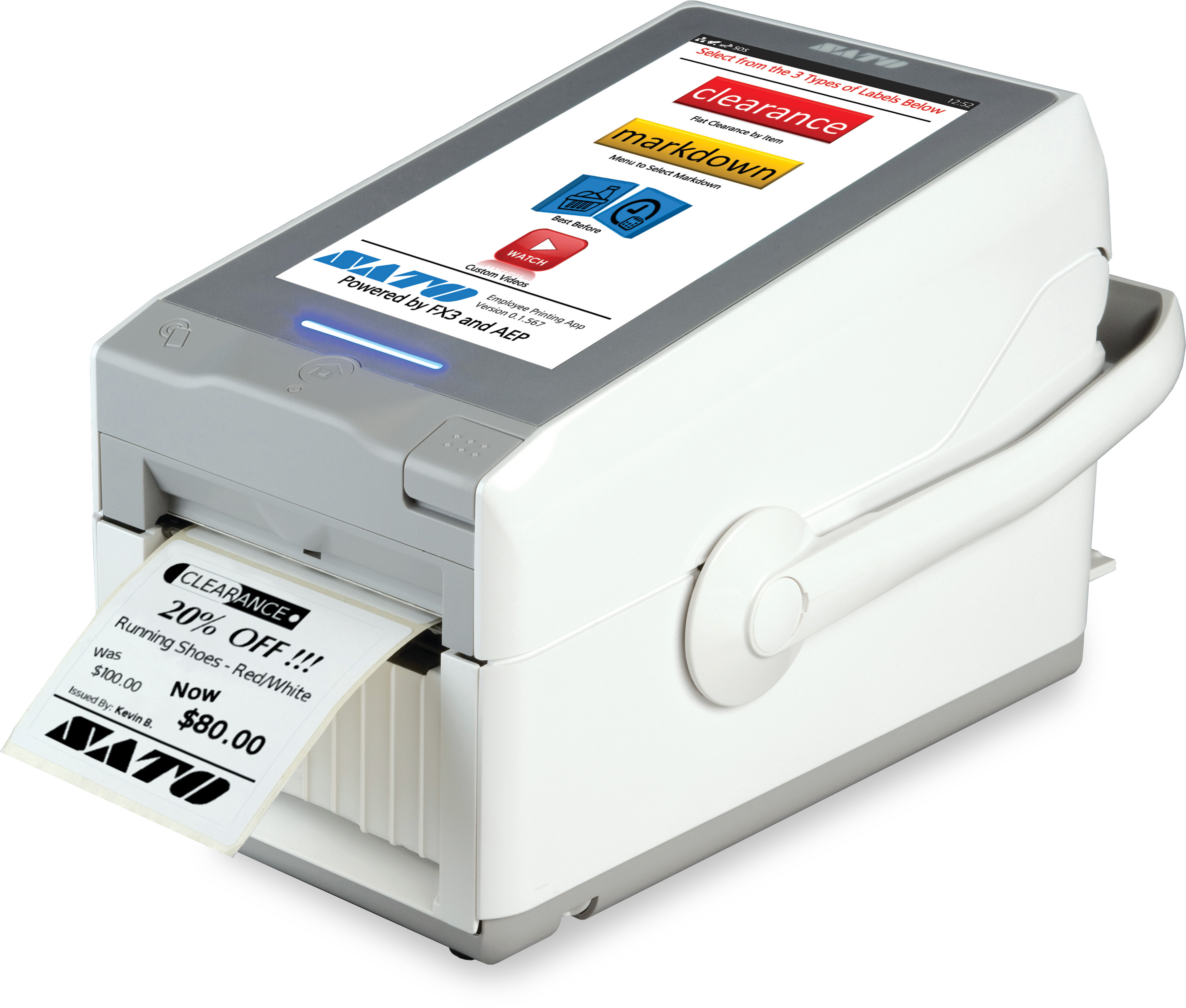 Sato FX3-LX Labels