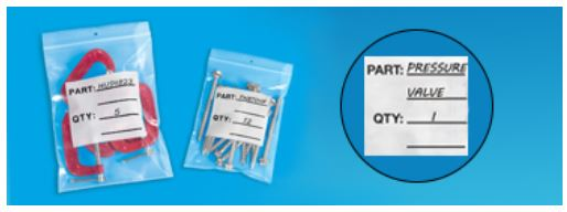 Pre-Printed Reclosable Parts Bags