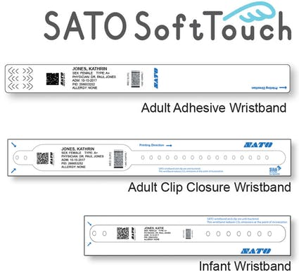 Sato Soft Touch Wristbands