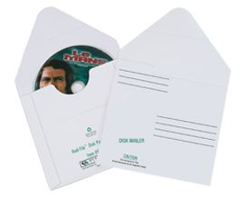 White Fibreboard CD Mailers